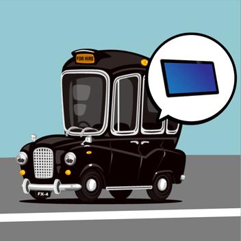 タクシー向けデジタルサイネージへの組込み